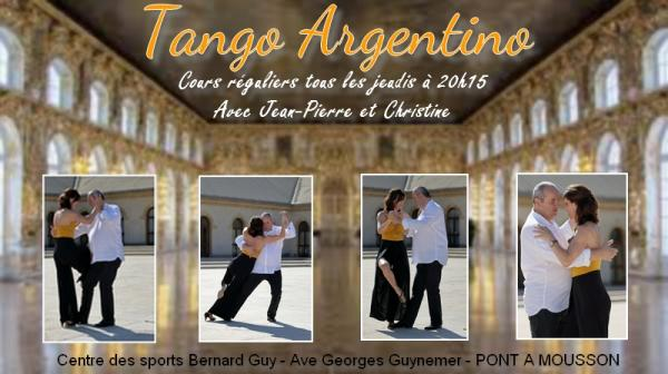 Flyer cours tango